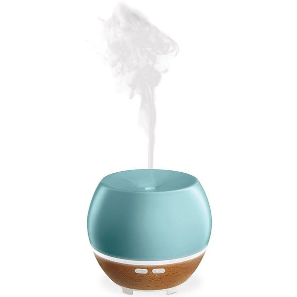 HoMedics Ellia Awaken Ultrasonic Aroma Diffuser ($100) ❤ liked on Polyvore featuring home, home decor, home fragrance, blue, homedics, scent diffuser, ultrasonic diffuser and fragrance diffuser