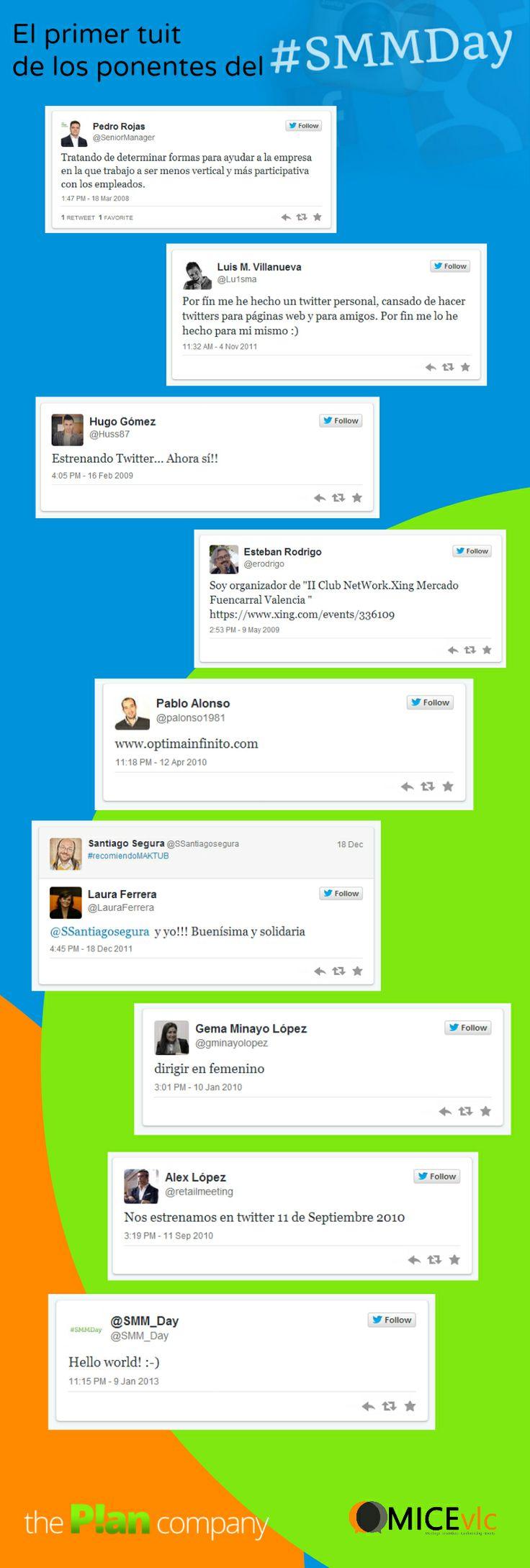 El primer tuit de los ponentes del #SMMDay de Valencia.