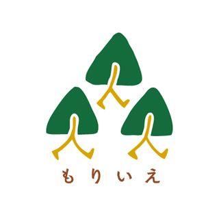 安曇川流域・森と家づくりの会のロゴ。 滋賀県の安曇川流域で育った木を使い、「こだわりの家づくり