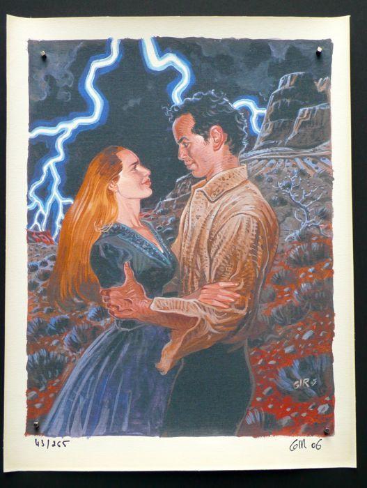 Giraud, Jean - Impression sur toile - Soir d'orage - (2006) - W.B.