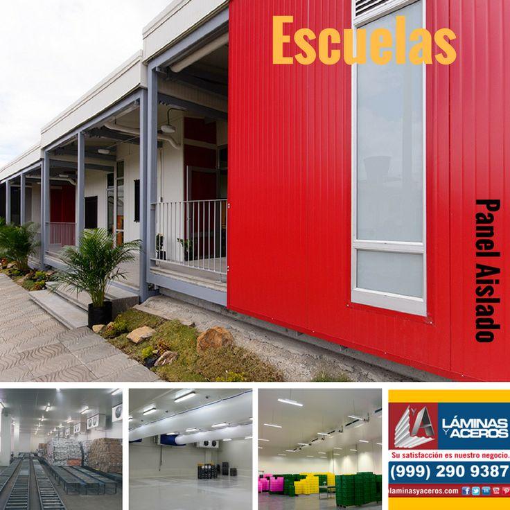 Panel Aislado para muros y techos en Escuelas