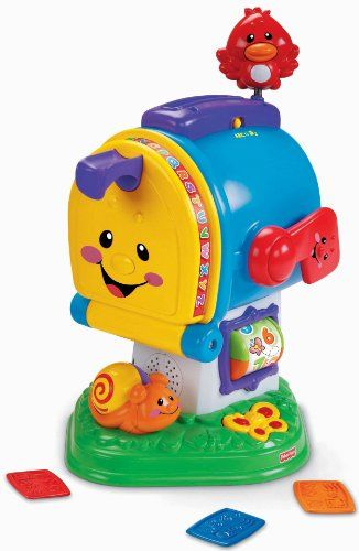 You've got mail baby! And loads of learning fun with adorable characters rich music and sing-along songs and lots of busy activities delivered by the Fisher-Price® Laugh & Learn™ Learning Let...
