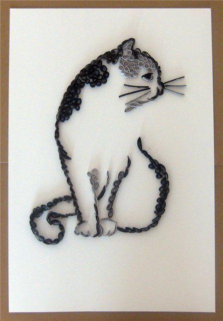 Quilled cat - picasaweb.google.com