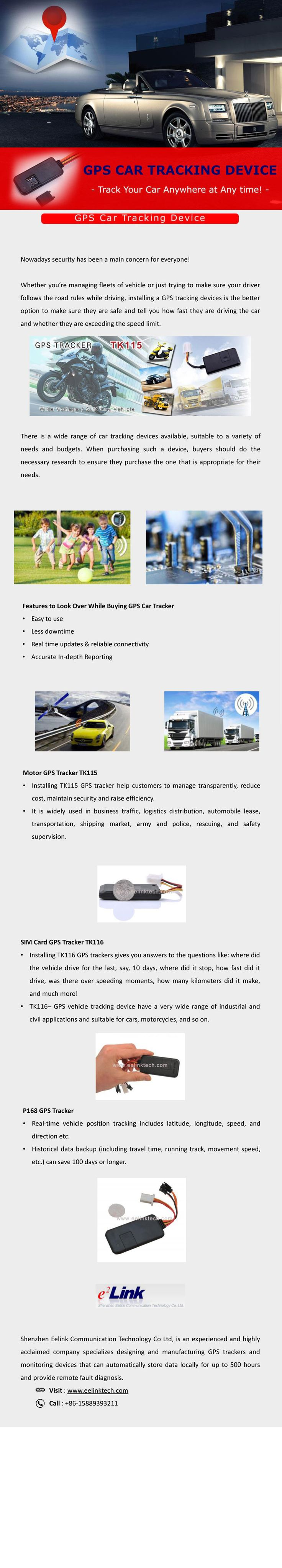 Gps vehicle tracking devices keep your car tracked shenzhen eelink communication technology co ltd offer a great range of personal and vehicle gps