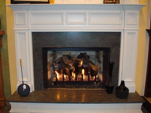 Heatialtor I 100 Woodburning Box With Eiklor 5 Burner And Custom  Philadelphia Mantle And Overmantle And
