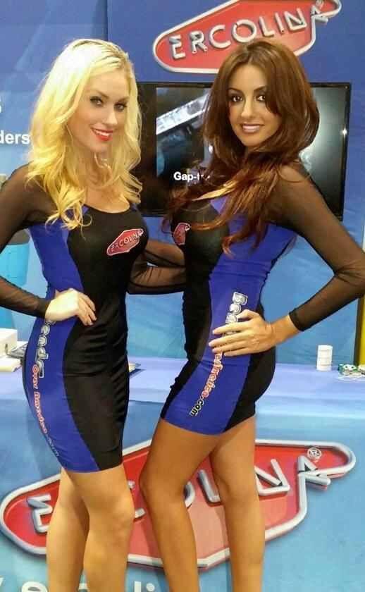models are :  #10381 Roxanne #648 Daniela SEMA 2014 Las Vegas Convention Center Nov 4-7, 2014