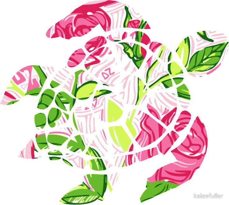delta zeta turtle - lilly print by kaleefuller