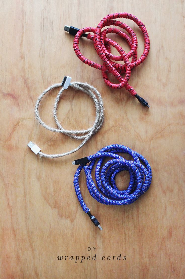 diy wrapped cords