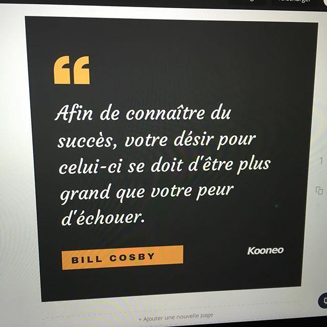 """""""Afin de connaître du succès, votre désir pour celui-ci se doit d'être plus grand que votre peur d'échouer."""" BILL COSBY https://www.instagram.com/p/BHKEJZeBvLoOSF-E_BVSPel_wy856eewlKzad00/"""