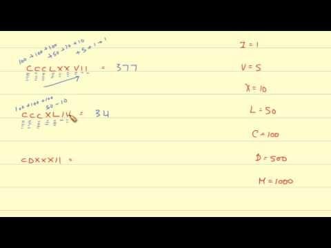 Converting Roman Numerals to Arabic Numerals (1-1000)