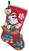 Peace and Love Santa Bucilla Stocking Thumb