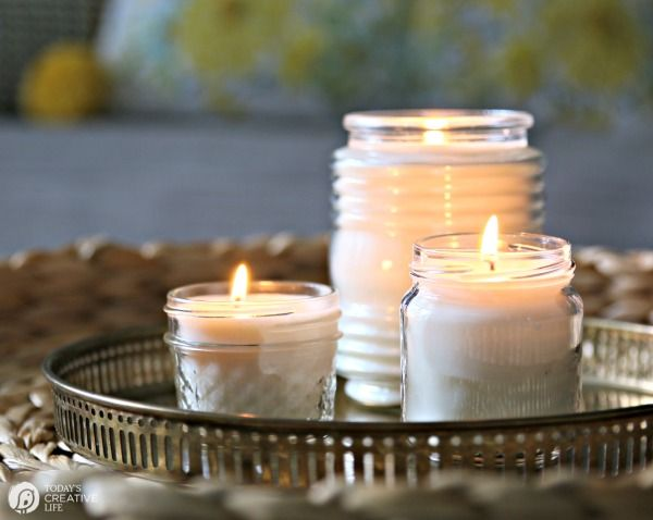 Natural Rapeseed Wax Candles Made With Love With A Smoky Citrine