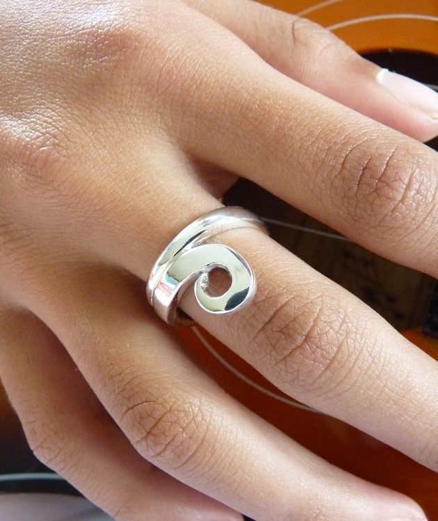Sterling Silver Koru Ring | Made in New Zealand