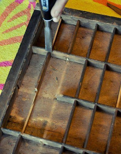003 How to modify a printing press drawer DIY Crafts