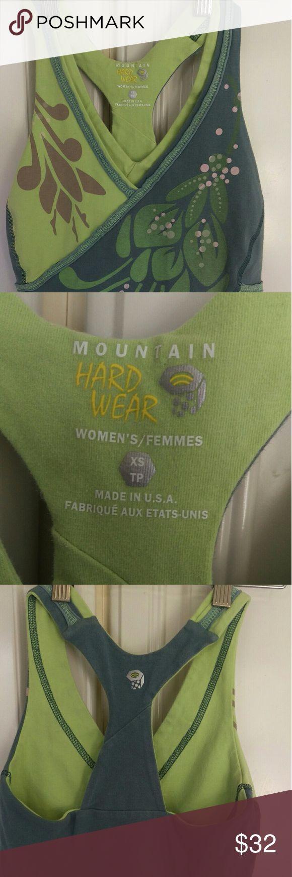 Mountain Hard Ware NWOT XS razorback yoga shirt XS workout shirt razor back cotton and spandex Mountain Hard Wear Tops Tank Tops