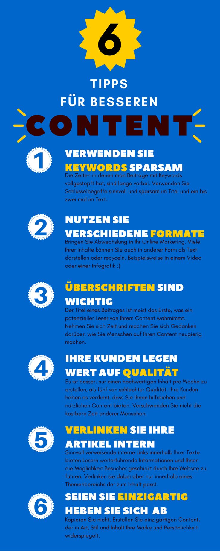 Infografik besserer Content KMU
