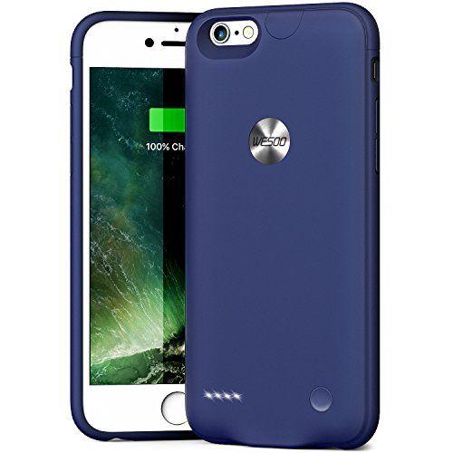 """Funda Carcasa Batería Recargable - Batería Cargador Externa Ultra Fina Wesoo 2500mAh para iPhone 6 / 6s 4,7"""" (Azul) #Funda #Carcasa #Batería #Recargable #Cargador #Externa #Ultra #Fina #Wesoo #para #iPhone #(Azul)"""