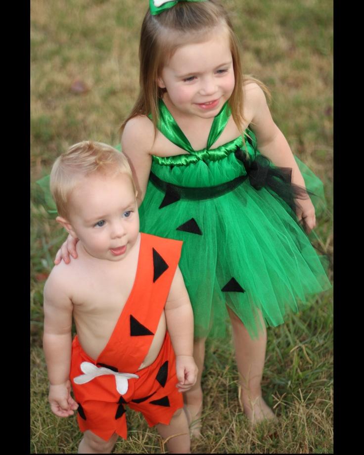 Boys Bam Bam Costume 6M-5T. $24.95, via Etsy. #halloween #costume #sibling…