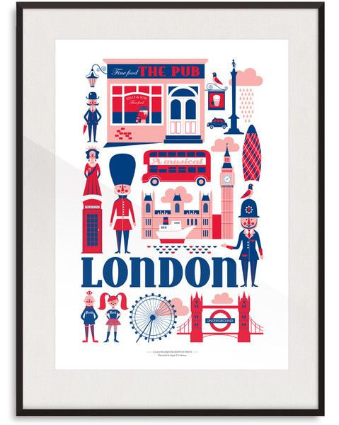 London Print By Ingela P Arrhenius | Lagom Design