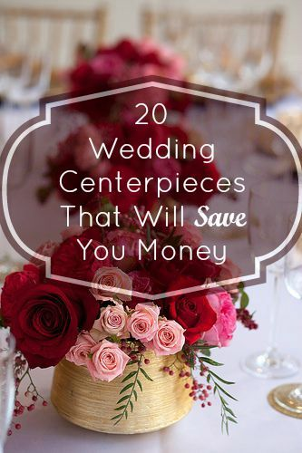 These budget-friendly ideas for wedding centerpieces are simple yet chic.
