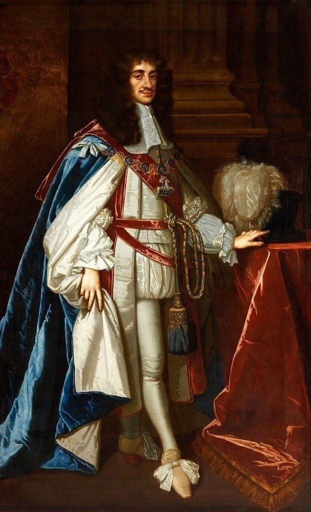 Charles II. of England in Garter  robes