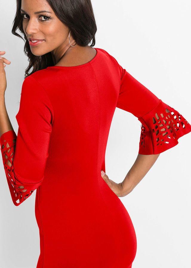 16d472f1cad3 Šaty s výstrihmi • červená • bonprix obchod