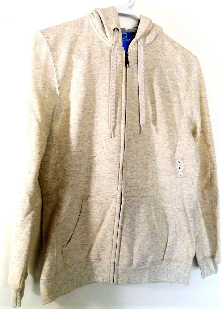 690453a68fb4 Champion Women s Size Large Oatmeal Heat Fleece Full Zip Hoodie NWT   Champion  Hoodie