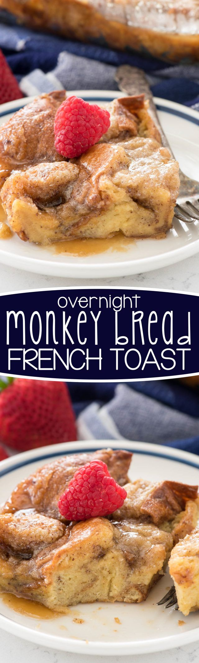 Overnight Monkey Bread French Toast Casserole - this easy breakfast recipe is perfect for any brunch! My family loved this casserole!