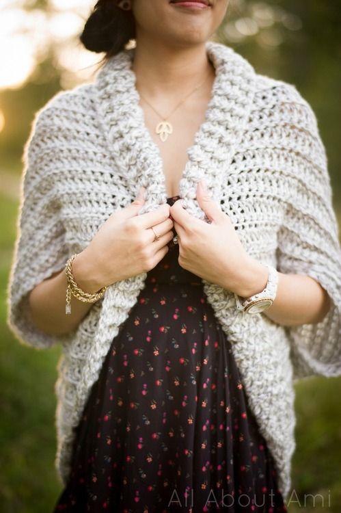 Easy chunky crochet cardigan - looks so snuggly!
