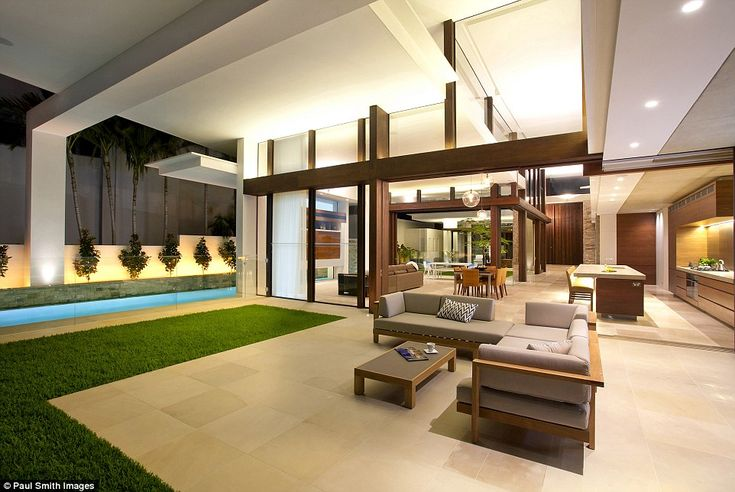 Its other features include an external fireplace, a scullery and internal courtyard, a spa and water feature