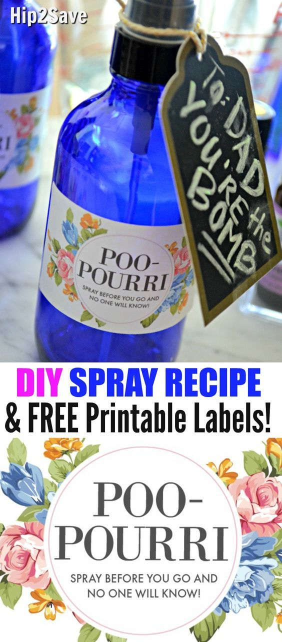 Here's how to easily make your own DIY Poo-Pourri (Before-You-Go Spray) at home using your favorite combination of essential oils and free printable labels!