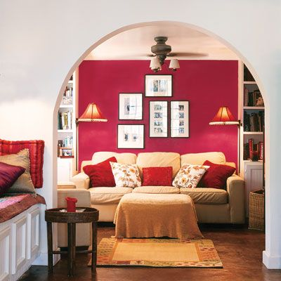Best Rectory Red Images On Pinterest Farrow Ball Wall - Deep red accent wall