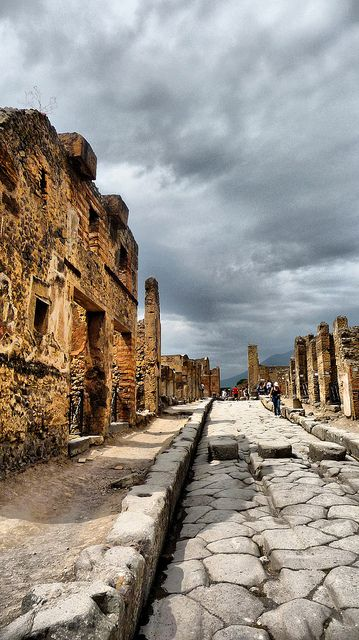 Pompei by Peter 79 on Flickr The ruts in the stones were made by wagons! They blew me away!