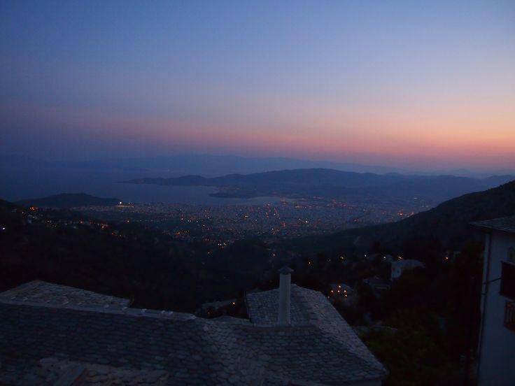Sunset from Makrynitsa,Pelion, August 2014