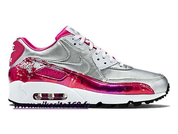 Officiel Nike Air Max 90 PRM QS Chaussure Running Pour Femme - Argent/Rose/