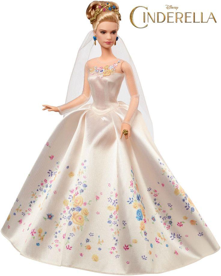 Disney Cinderella Wedding Day Bride Doll by Mattel - CINDERELLA live-action film 2015 - Cinderella Barbie 2015 Movie Dolls Released