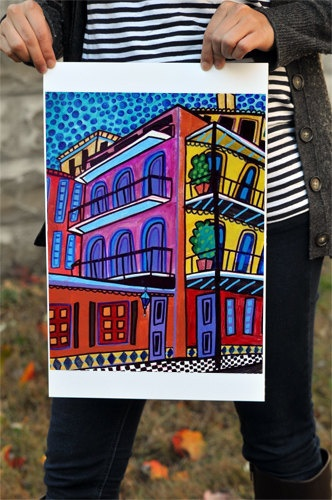 New Orleans Art French Quarter  Mothers Day by HeatherGallerArt, $24.00