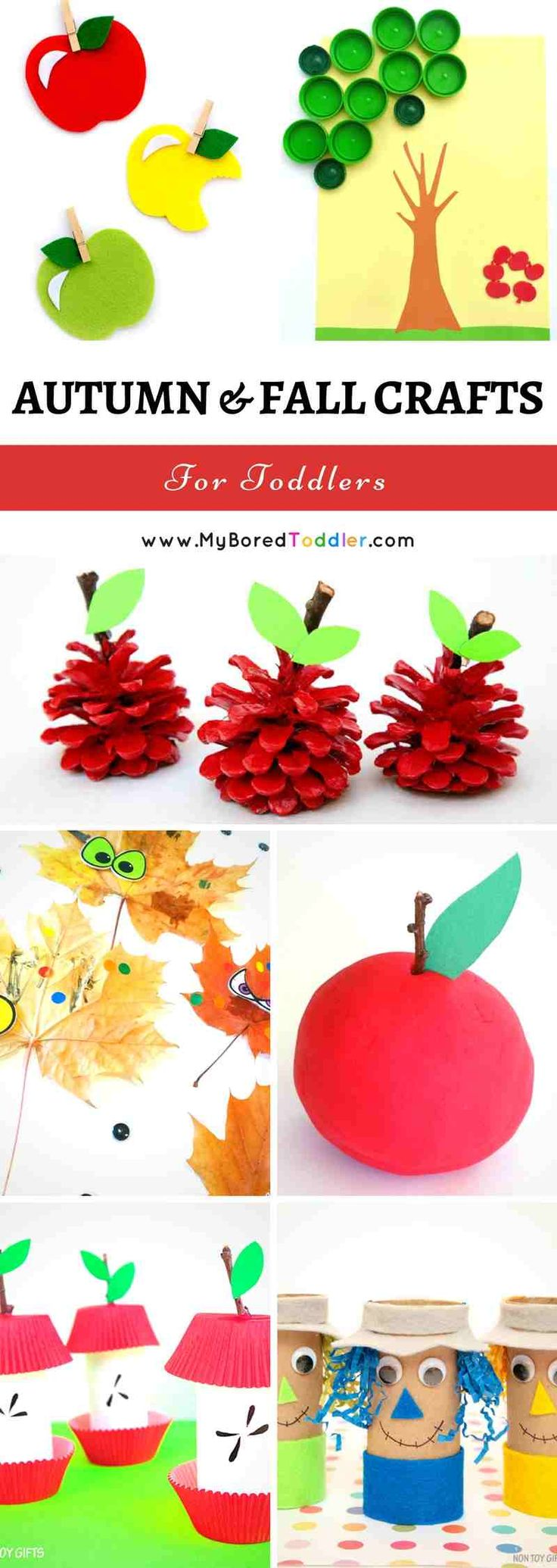 Autumn and Fall crafts for Toddlers. Over 50 great Autumn craft activities for…