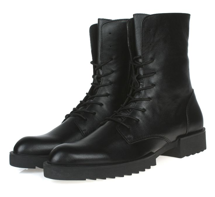 118.92$  Buy now - http://alici2.worldwells.pw/go.php?t=2033332946 - 2017 brand black mens ankle boots genuine leather military boots mens winter shoes new mens motorcycle boots free shipping