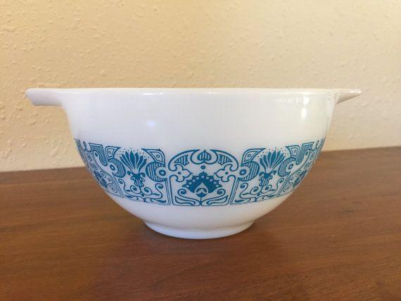 1970s Pyrex Horizon Blue mixing bowl  441 by EphemeraEverAfter