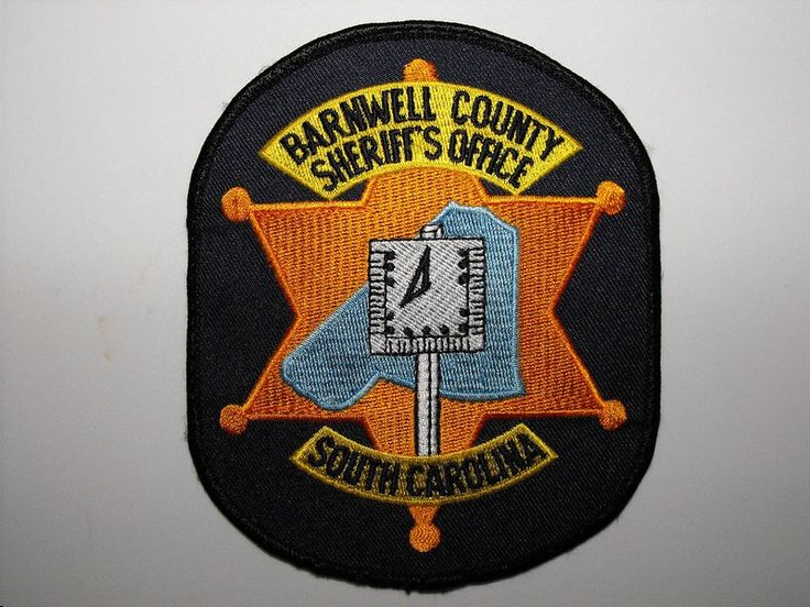 barnwell co sc South carolina police, Police patches