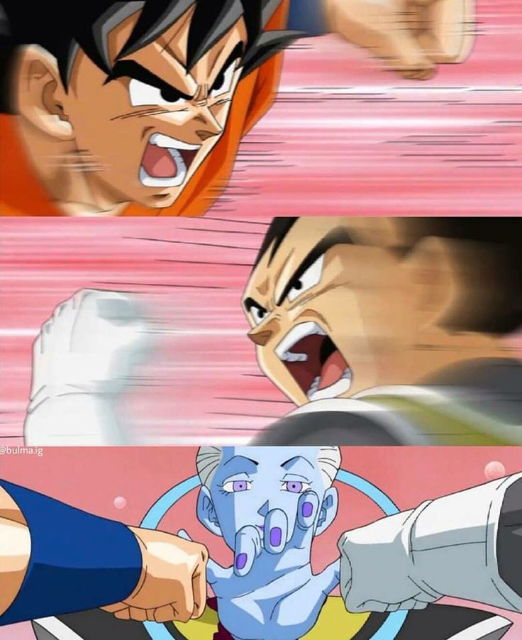 Clip from Dragonball Super. Need to watch that serie