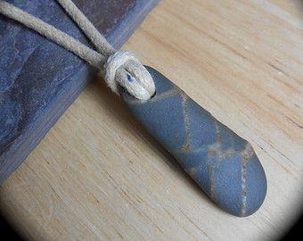 Beach kő ékszerek - Egyszerű Kő nyaklánc - Férfi Ékszerek - RAD