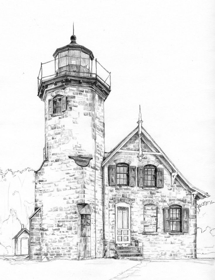 Line Art Lighthouse : Best ideas about lighthouse drawing on pinterest