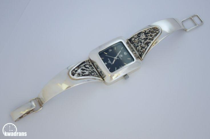 Silver Wristwatch for women, 925 sterling silver #silver #watch Zegarek srebrny na rękę - damski, marki Perfect