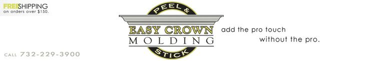 Easy Crown Molding - peel and stick crown molding