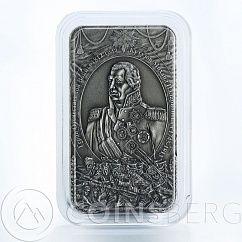 Cook Islands, 5 dollars, Mikhail Kutuzov, War of 1812, Russian general, 2010 BOX