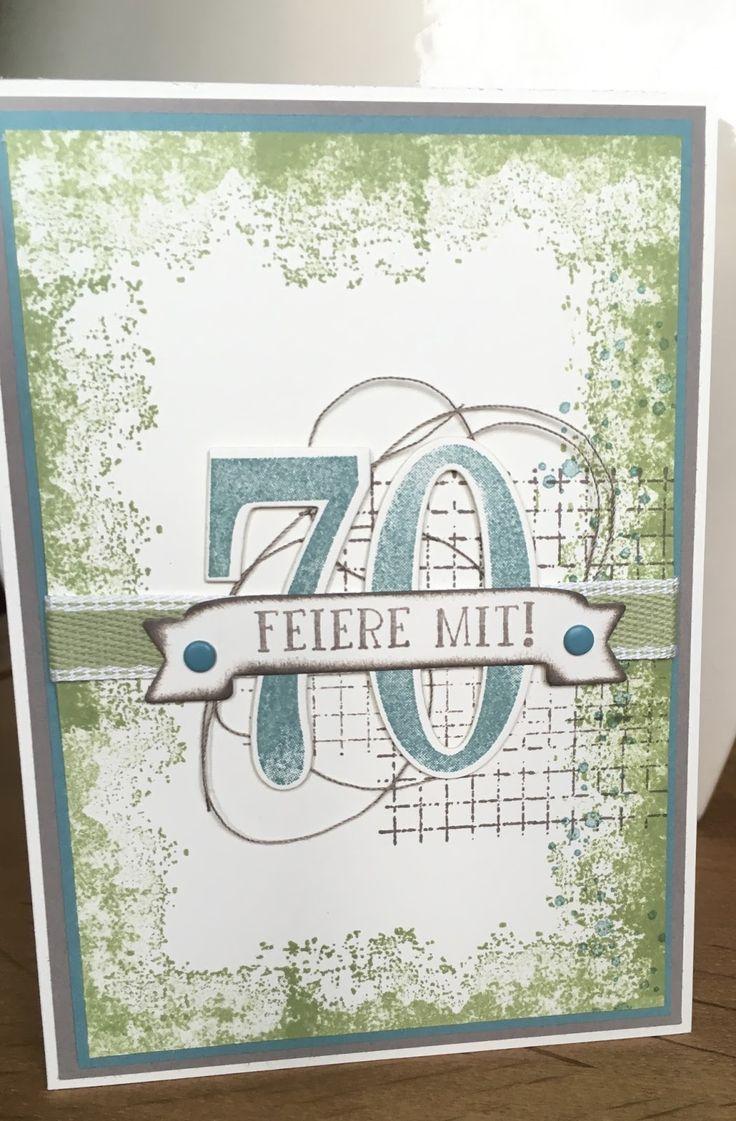 Klikaklakas Kreativer Kram: Einladungskarten Zum 70. Geburtstag
