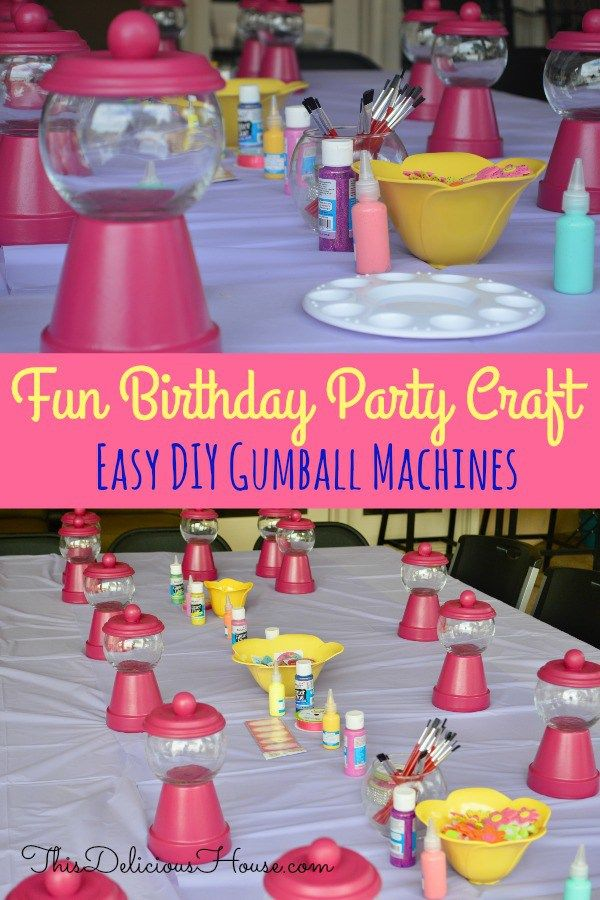 DIY Gumball Machine Party Favors – Instructions