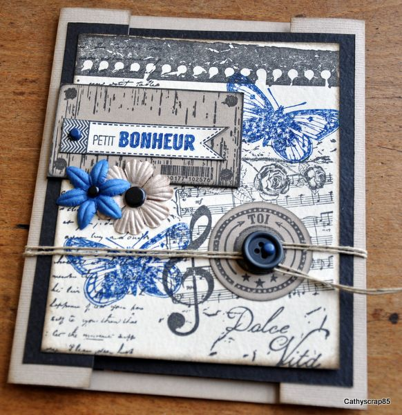 Mini album make & take tutorial by Cathyscrap85 for Florileges Design. (in French)